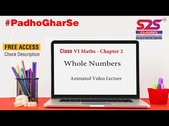 Class 6  Maths   Chapter  2 Whole Numbers - Animated Video Lecture