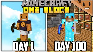 I Spent 100 Days in ONE BLOCK Minecraft... Here's What Happened