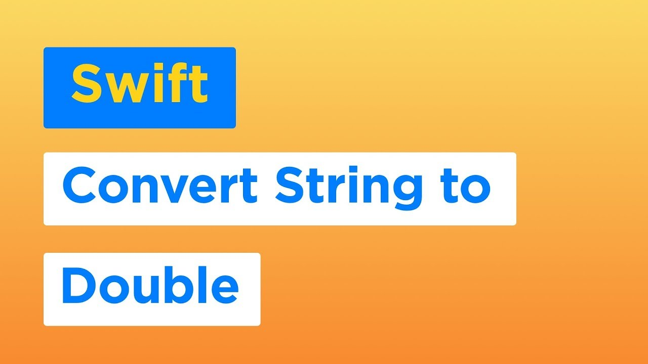 How to Convert String to Double and Float types using Swift 4