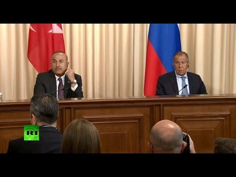 Пресс-конференция по итогам встречи Лаврова с главой МИД Турции — LIVE