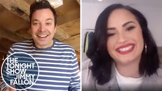 Demi Lovato and Jimmy Paint Each Other's Portraits