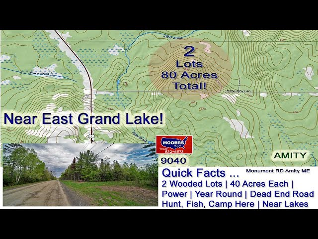 Monument RD Amity ME Land For Sale   Up To 80 Acres MOOERS REALTY 9040