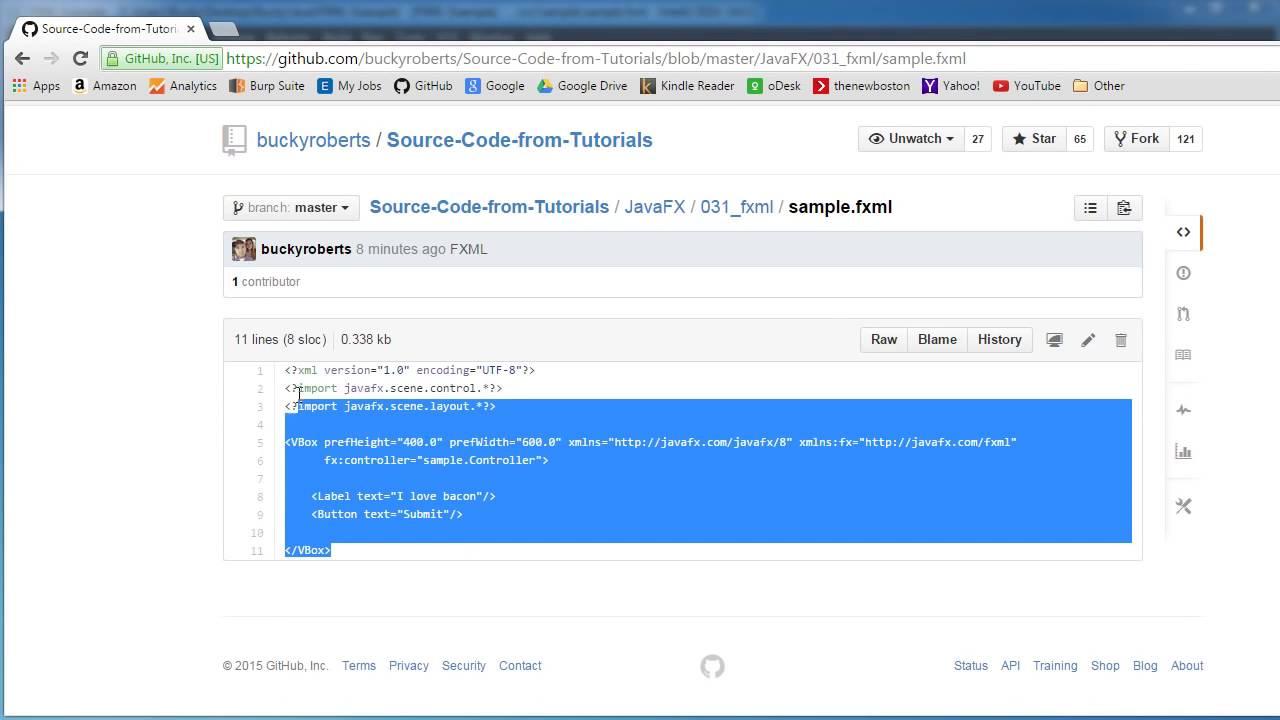 Javafx java gui tutorial 31 introduction to fxml youtube javafx java gui tutorial 31 introduction to fxml baditri Images