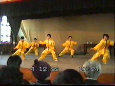 Taiji (Taichi) style Chen - Démonstration Shen Zhen Jun et ses élèves - 1999