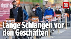 Kleine Geschäfte wieder geöffnet: Großer Ansturm auf Baumärkte in Österreich
