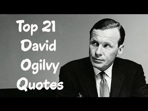 David Ogilvy Quotes Classy Top 21 David Ogilvy Quotes The Advertising Executive  Youtube