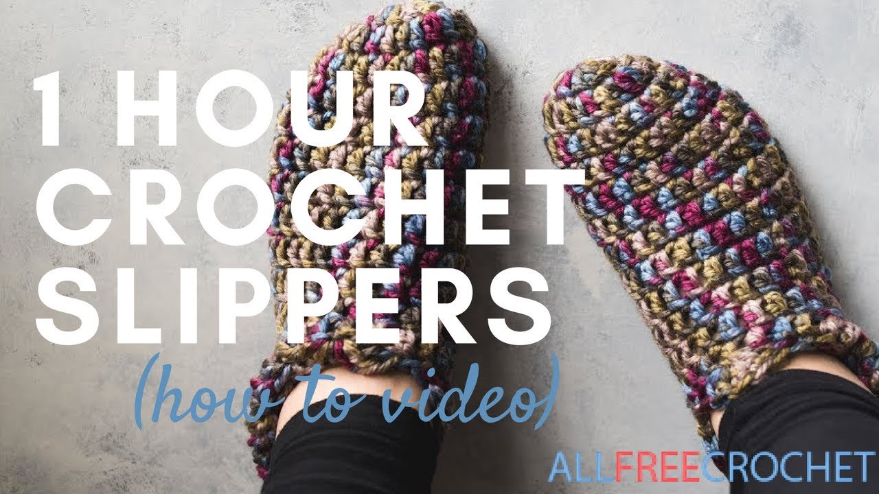 cffcdf30dfc37 49 Easy Crochet Slippers for Adults and Kids | AllFreeCrochet.com