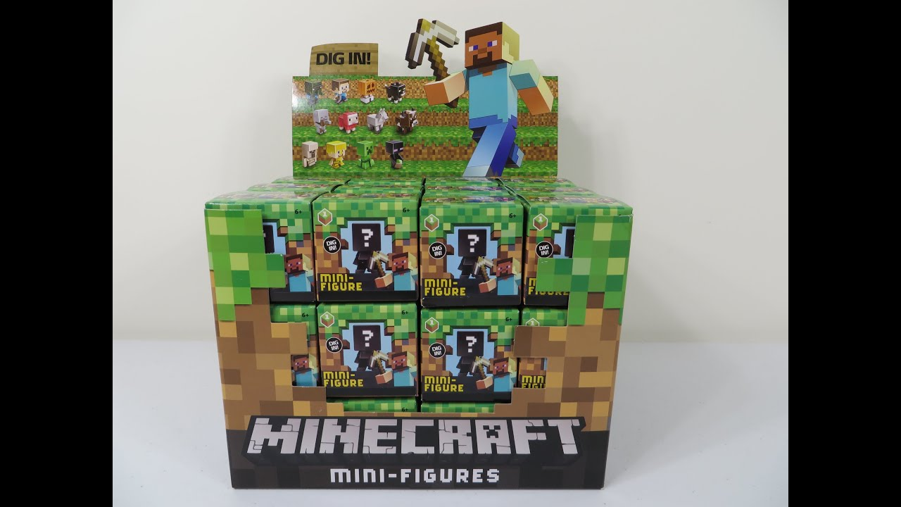 Minecraft Grass Series 1 Blind Box Mini Figures Unboxing