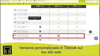 Versione personalizzata di Tilelook sul tuo sito web