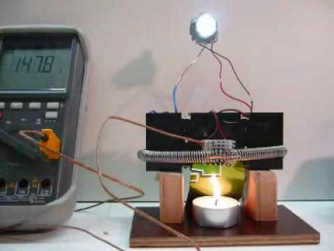 thermoelektrischer generator mit 1w youtube. Black Bedroom Furniture Sets. Home Design Ideas