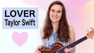 Lover Taylor Swift Ukulele Tutorial Youtube