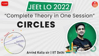 Circles | Complete Theory in One Session | JEE Main 2022 | JEEt Lo 2022 | Arvind Kalia Sir | Vedantu