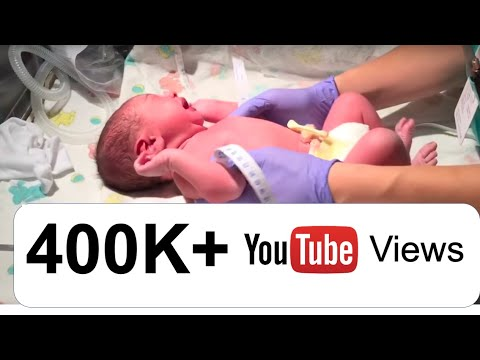Newborn baby recognizes dad's voice and stops crying