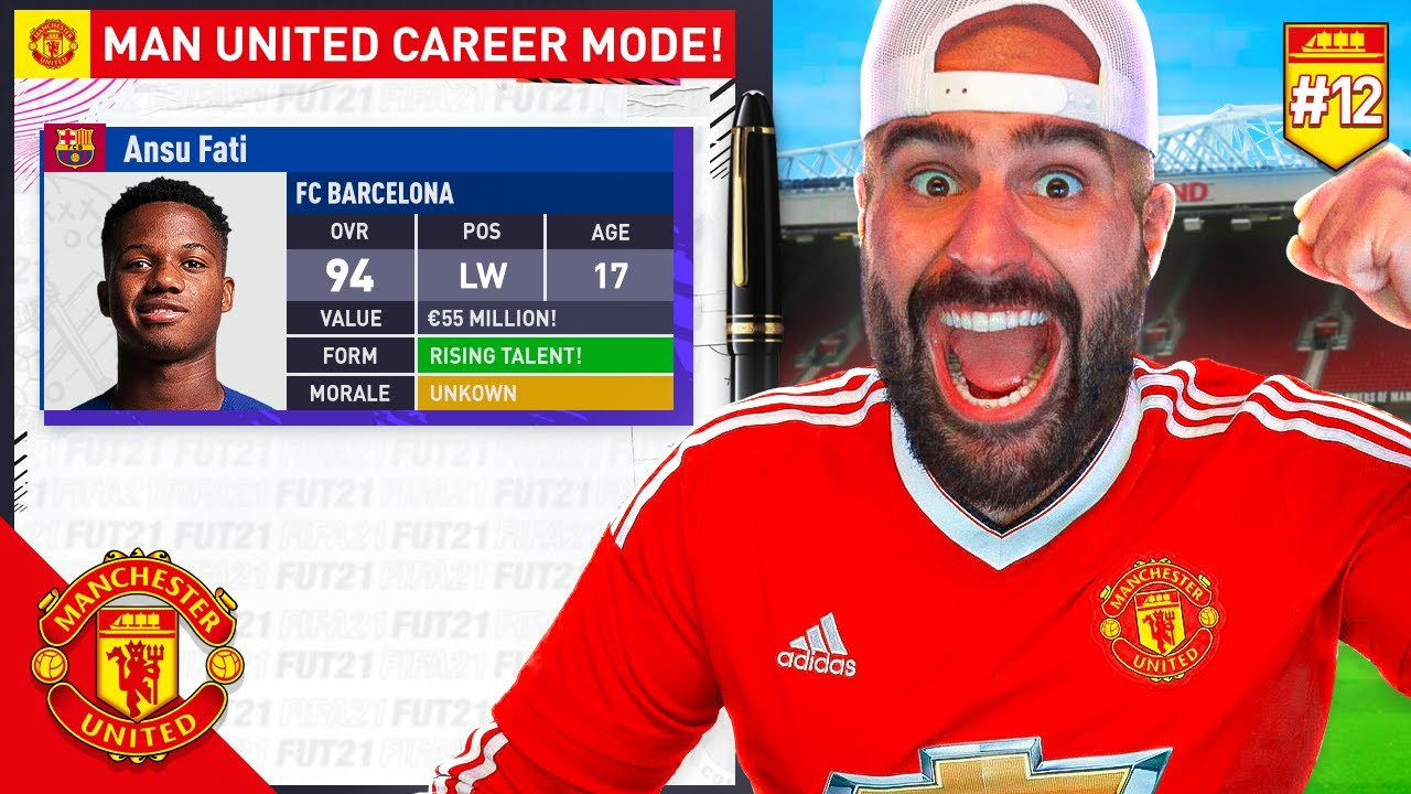 BARCA YOUNG SUPER STAR JOINING MANCHESTER UNITED!! FIFA 21 CAREER MODE