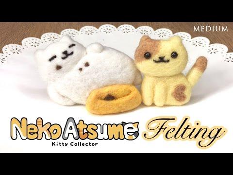 DIY Neko Atsume Needlefelt Cats! Relaxing ASMR Crafting