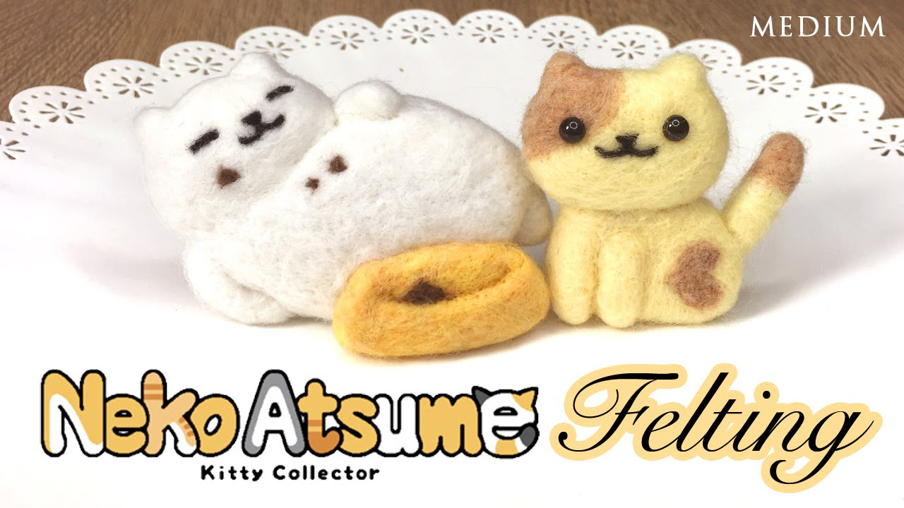 DIY Neko Atsume Needlefelt Cats! Relaxing ASMR Crafting - YouTube