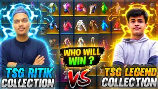 Free Fire Best Collection Versus Between Legend And Ritik || Face 2 Face Battle - Two Side Gamers