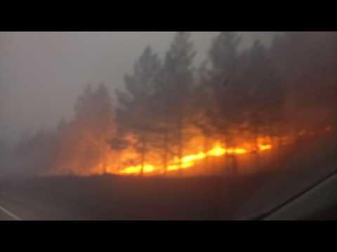 Братск, пожары 27.04.2017