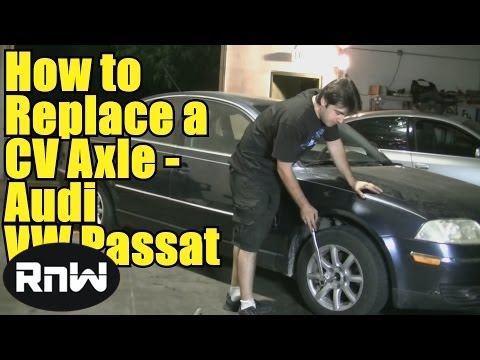 How to Replace a CV Axle on a VW Passat Audi A4 - Short Version
