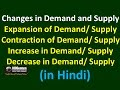 Demand and Supply - Expansion/ Contraction/ Increase/ Decrease (in Hindi)