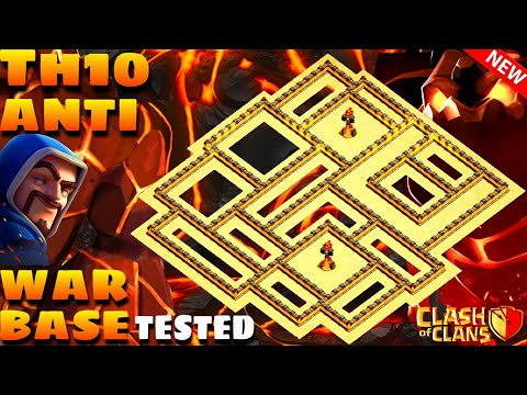 Clash Of Clans   Th10 Anti 3 Star War Base   Anti Hog'Miner'Bowitch'Lava Loon   With 7 Tested Replay