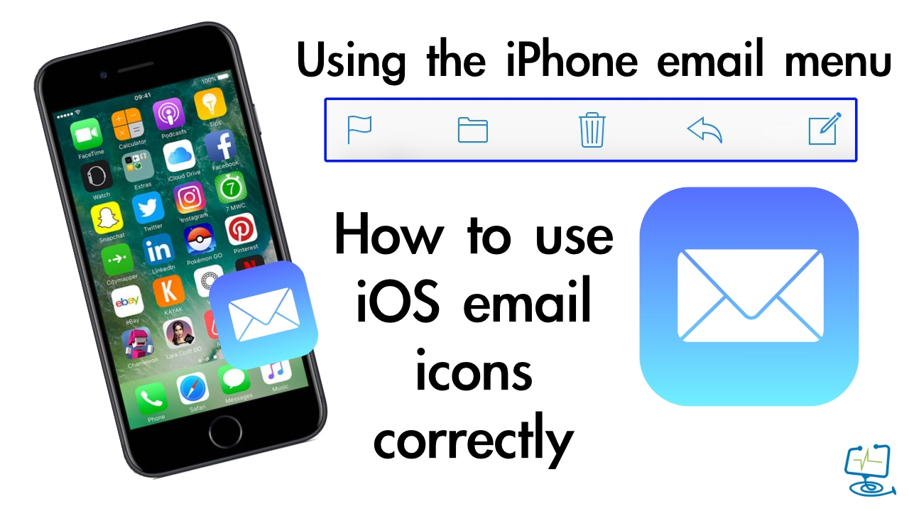 How To Use Iphone Email Menu And Icons Youtube