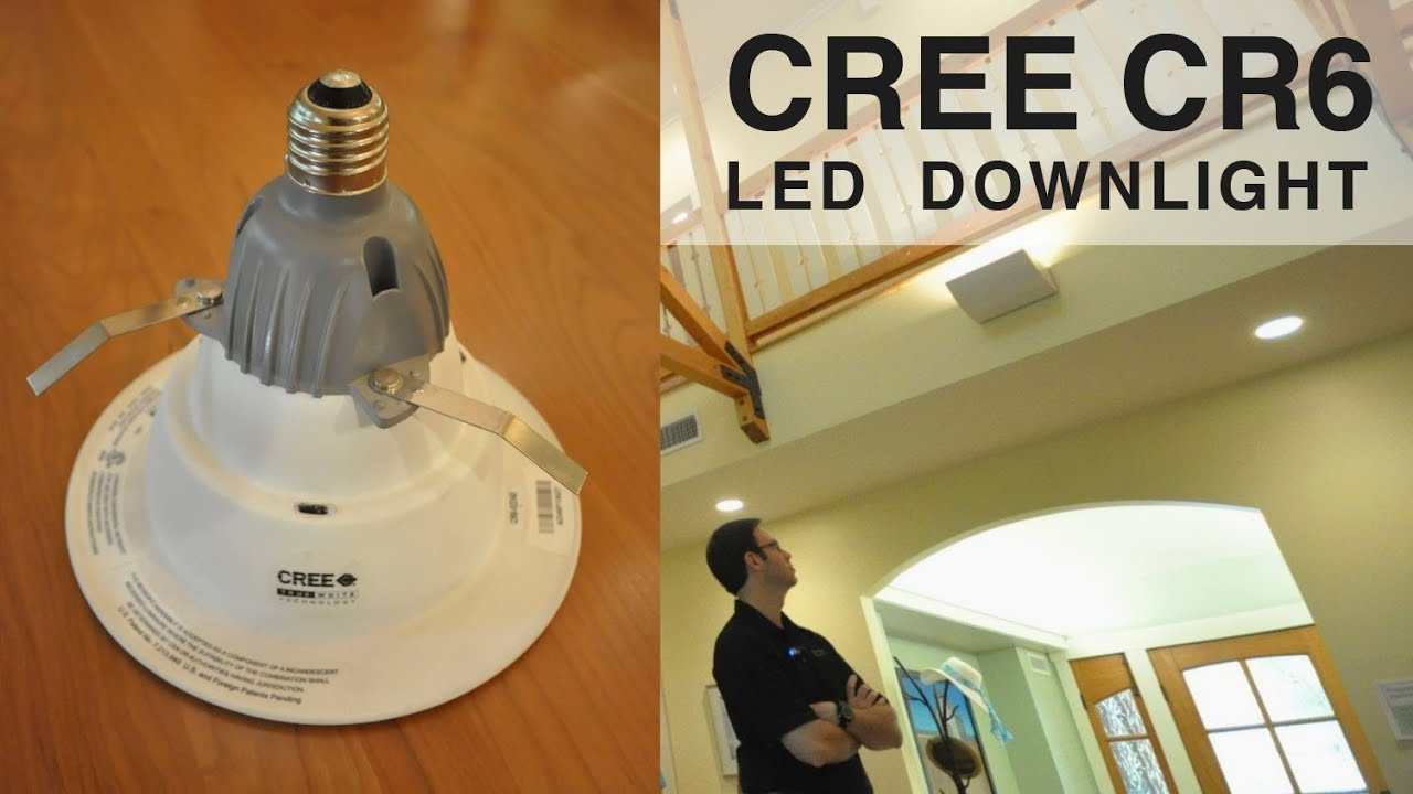 Led recessed bulb review cree cr6 youtube aloadofball Images