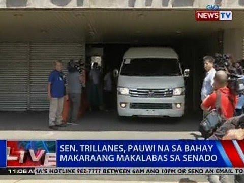 NTVL: Sen. Trillanes, pauwi na sa bahay makaraang makalabas sa Senado