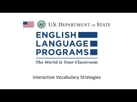 Interactive Vocabulary Strategies [RELO Andes Webinar - November 2017]