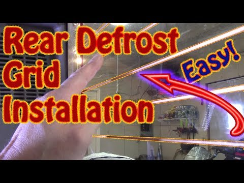 DIY Rear Defrost Replacement  Grid Installation Clear View \ Frost Fighter Copper Replacement Grid