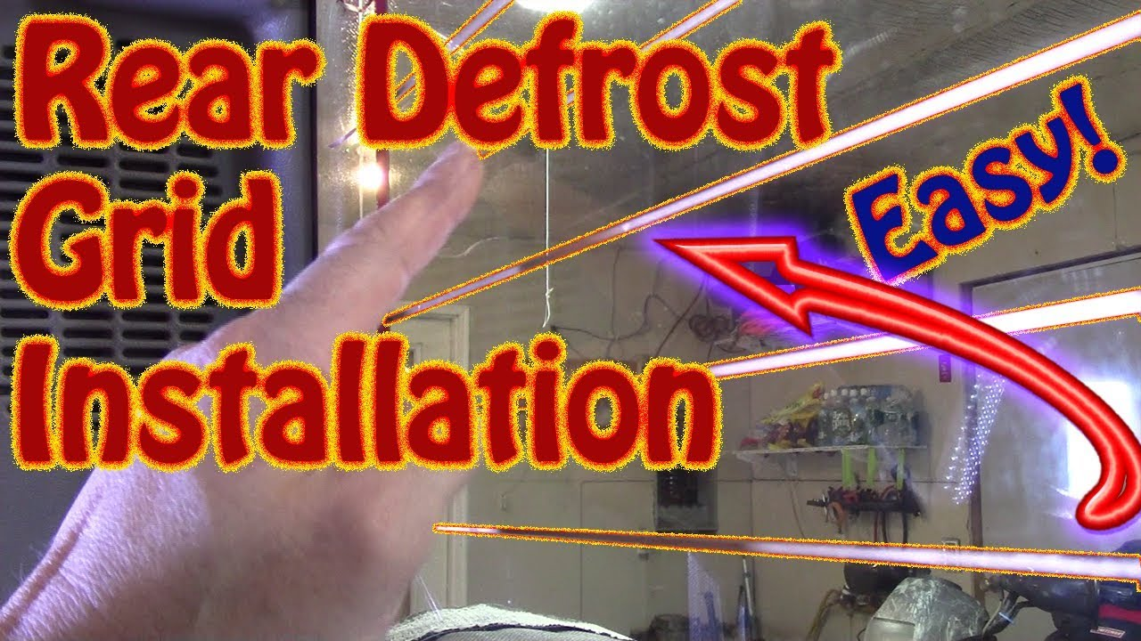 small resolution of diy rear defrost replacement grid installation clear view frost fighter copper replacement grid