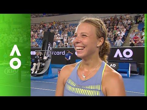 Anett Kontaveit on court interview (3R) | Australian Open 2018