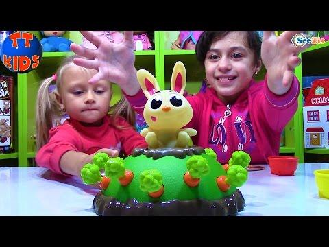 ПРЫГАЮЩИЙ КРОЛИК ДЖЕК ЧЕЛЛЕНДЖ с Ярославой Игры для детей Jumping Jack Game - Games for children