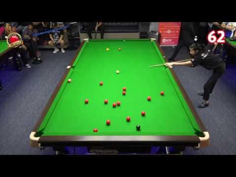 Hi-end Snooker Club : Nutcharut Wongharuthai (Mink) made 62 and 86 pts. VS Ronnie O' Sullivan