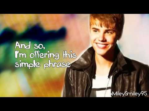 Justin Bieber Ft. Usher - The Christmas Song (Chestnuts Roasting On An Open Fire) (with Lyrics)