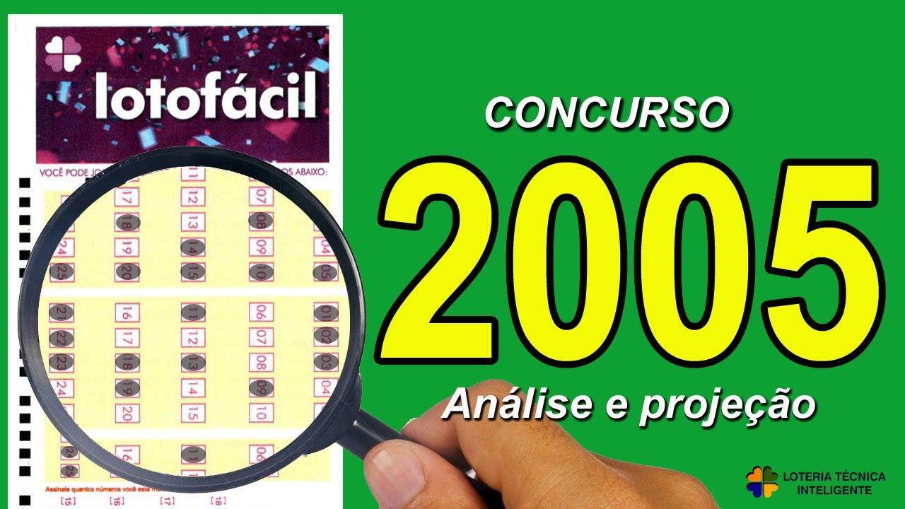 ANÁLISE E PROJEÇÃO PARA O CONCURSO 2005 DA LOTOFÁCIL