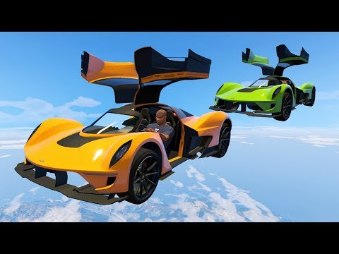 NEW FLYING CAR TECHNIQUE?! (GTA 5 Funny Moments)