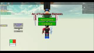 Roblox:arc of the forbidden element~how to use arc changer