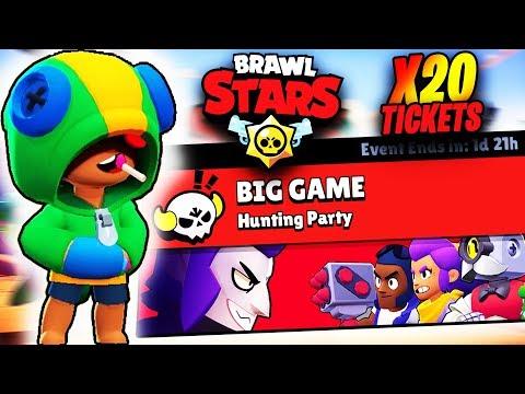 LEON VS BIG BRAWLER - BIG GAME HUNTING PARTY - MOD NOU | BRAWL STARS!