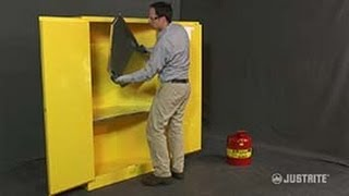 Justrite Corner Safety Cabinet Shelf Installation Instructions