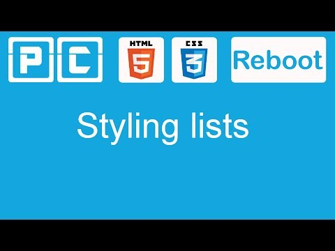 HTML5 And CSS3 Beginners Tutorial 28 - Styling Lists