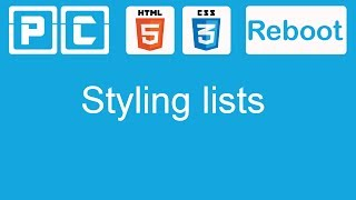 html5 and css3 beginners tutorial 28 styling lists