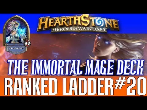 RANKED LADDER - THE IMMORTAL MAGE DECK #20 (HEARTHSTONE 1080P)