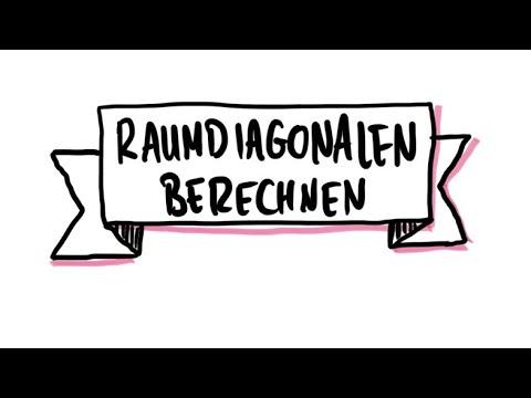Raumdiagonale berechnen | Satz des Pythagoras - YouTube
