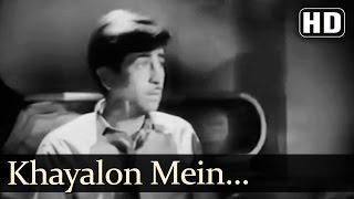 Khayalon Mein Kisi Ke - Bawre Nain Songs - Raj Kapoor - Vijayalaxmi - Mukesh - Geeta Dutt