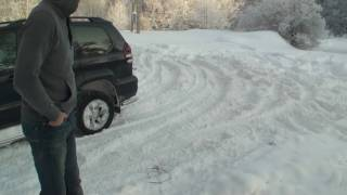bmw X6, Range Rover and Landcruiser in snow part 1