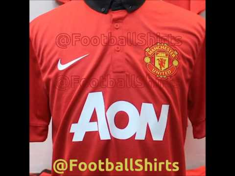 Manchester United Home and Away kits 2013/2014