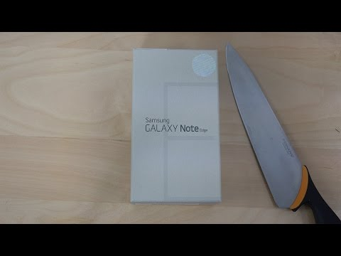 Samsung Galaxy Note Edge - Unboxing (4K)