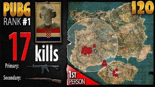 PUBG Rank 1 - sprEEEzy 17 kills SOLO [EU] - 1st person PLAYERUNKNOWN'S BATTLEGROUNDS #120 thumbnail