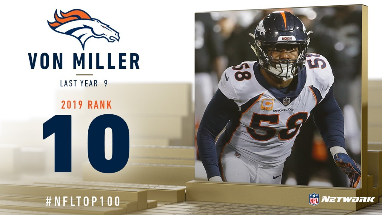 Broncos LB Von Miller voted No. 10 among NFL's top 100 players list
